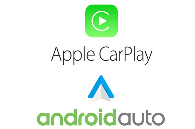 Logotipos de Apple CarPlay y Android Auto