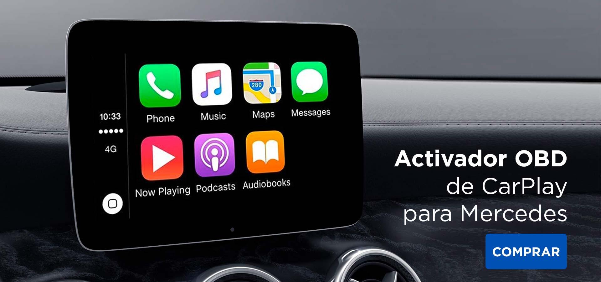 Activador de CarPlay OBD en Mercedes