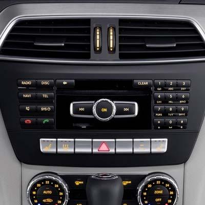 Mercedes Clase C W204 con NTG 4.5, unidad de control