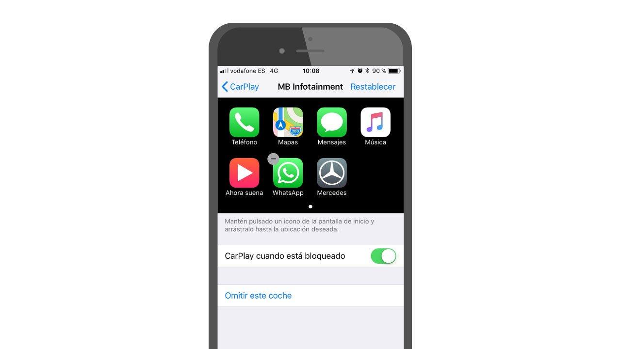 Cómo ordenar las aplicaciones de CarPlay en el iPhone