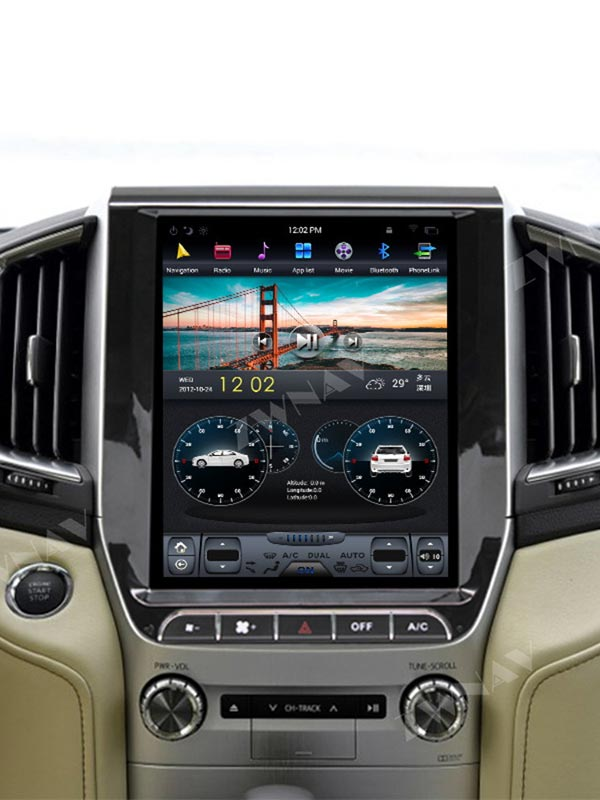 Radio de tipo Tesla para Toyota Land Cruiser