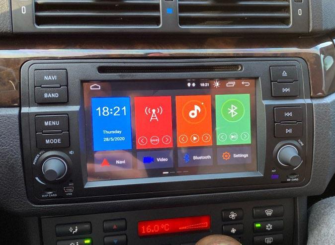 Radio Android para BMW E46, pantallas en este modelo de Serie 3