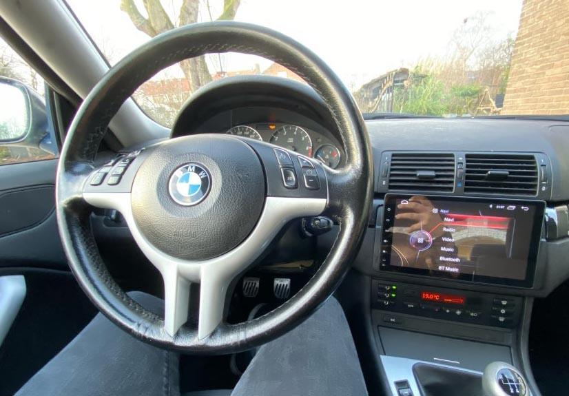 Radio Android para BMW E46 con pantalla tipo tablet