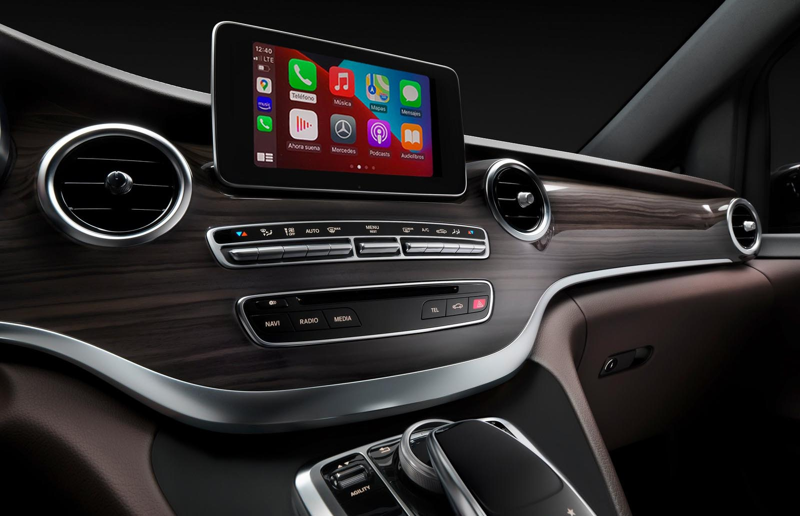 Como poner CarPlay en Mercedes Clase V W447, modelos compatibles y pantallas Android disponibles